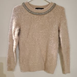 3/25  Forever 21 knitted fuzzy pink sweater